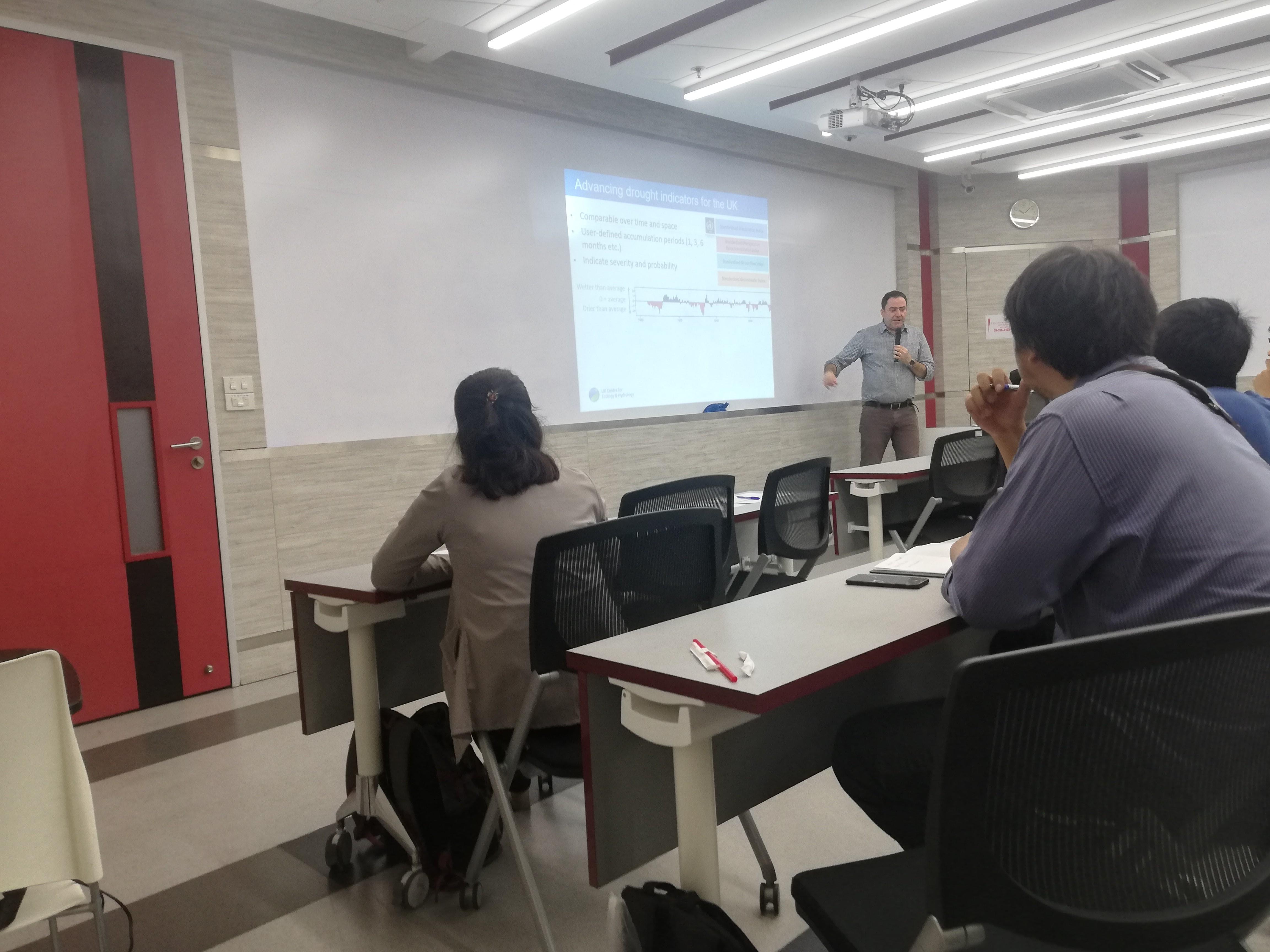 Jamie Hannaford giving guest lecture at Chulalongkorn University