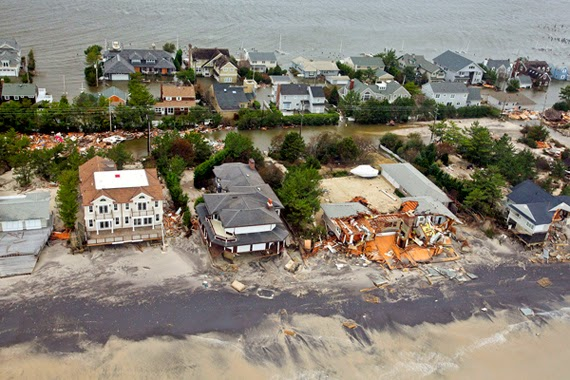 Aerial views during an Army search and rescue mission show damage from Hurricane Sandy to the New Jersey coast, Oct. 30, 2012. US Air Force photo by Master Sgt Mark C Olsen (in public domain).
