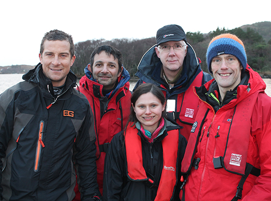 Bear Grylls and CEH scientists