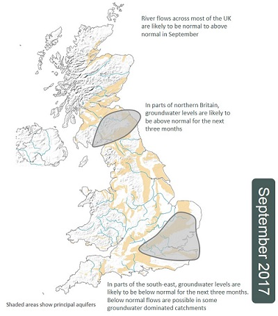 Hydrological Outlook from September 2017