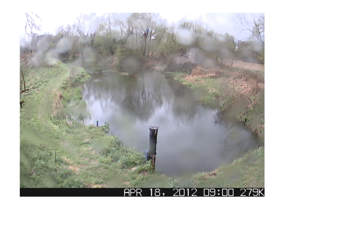 Photo: Raindrops on the webcam at CEH's River Lambourn observatory