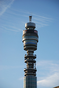 BT Tower, London.  Photo on Flickr by BBM Explorer (Creative  Commons licence)