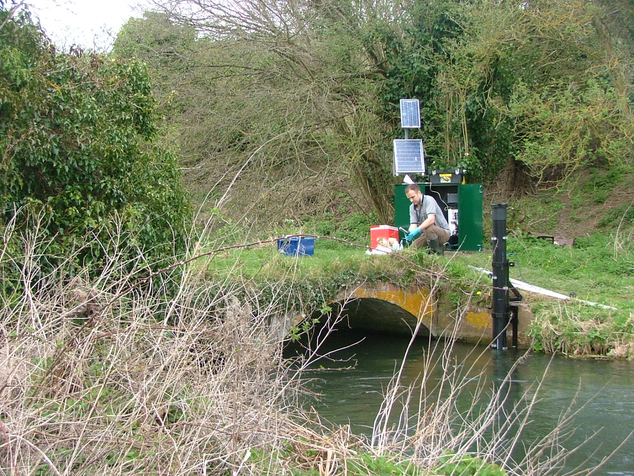 Monitoring chalk stream water quality