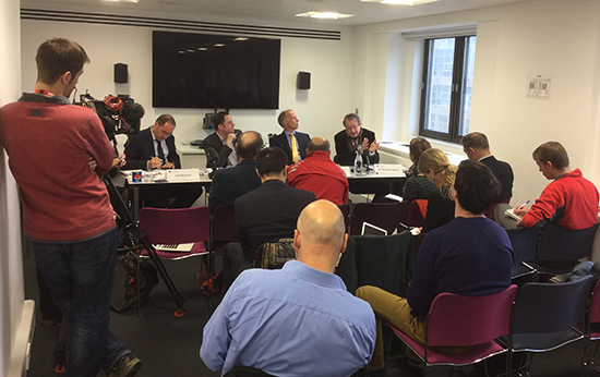 The CEH panel at the flood science briefing