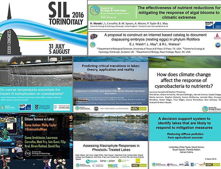 Titles of CEH presentations at SIL2016 limnology congress