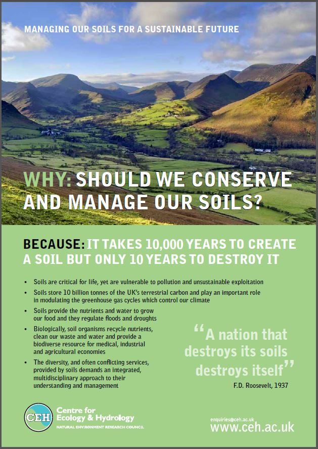 Why should we conserve and manage our soils centre for for Soil our life