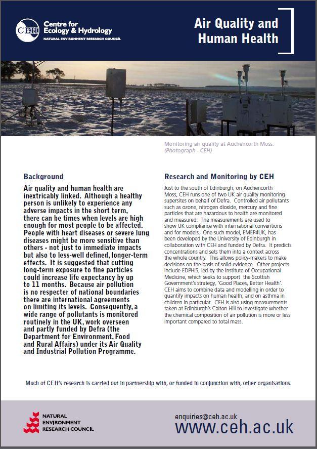 Air quality leaflet