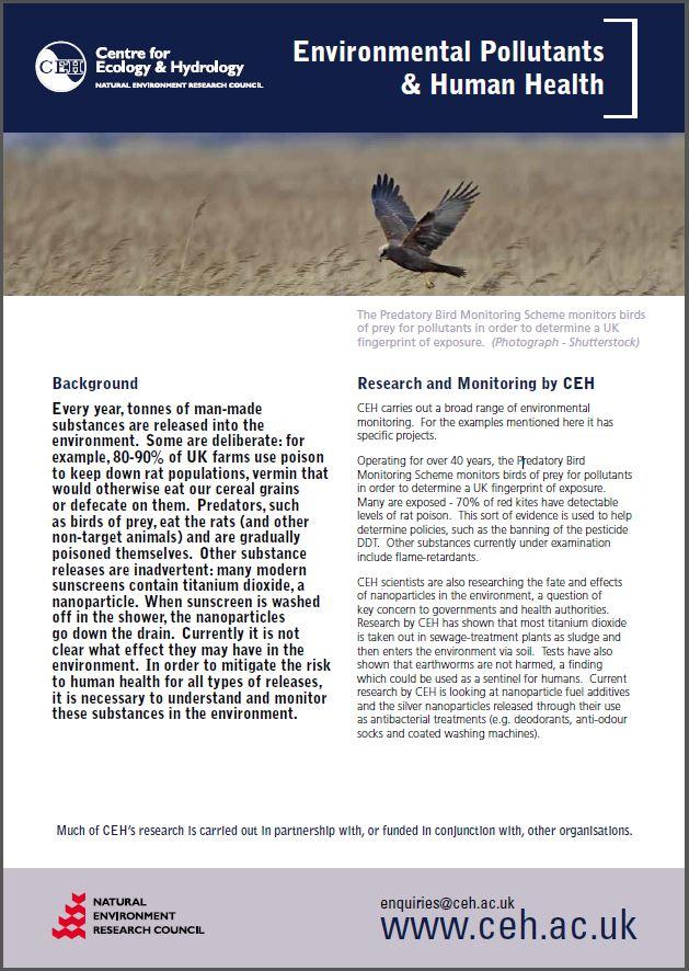 Pollutants leaflet