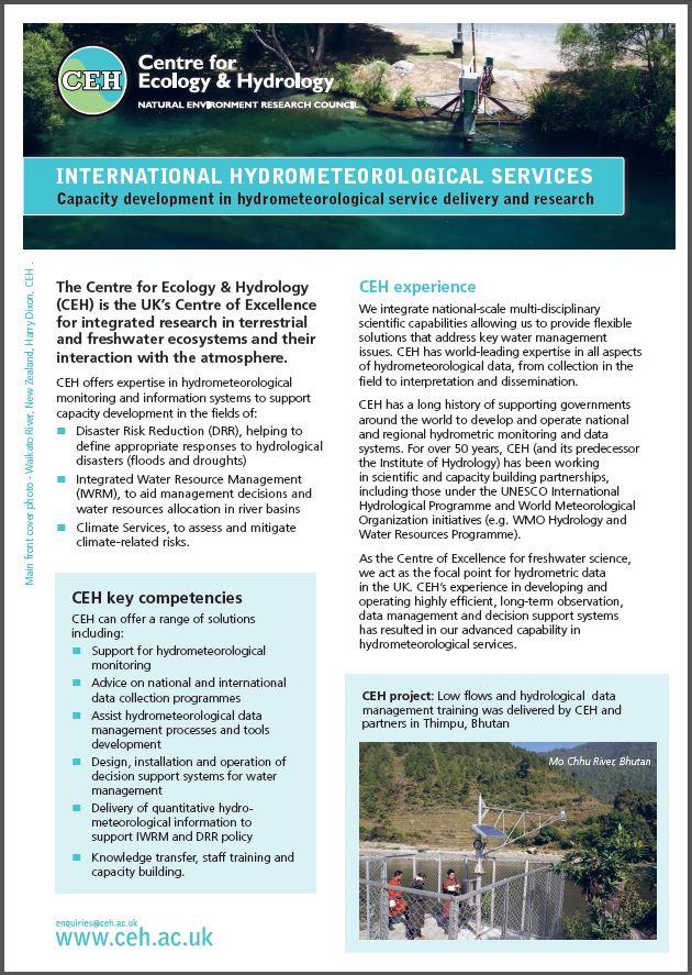 Hydromet Services leaflet