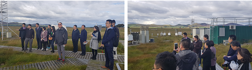 Chinese Meteorological Administration visitors at Auchencorth Moss field site