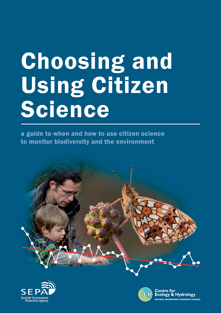 Front cover of the new guide on how to use citizen science for monitoring the environment.