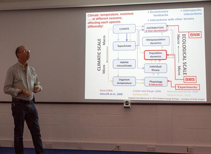 Prof Chris Thomas presenting at the UKBMS 40th anniversary symposium