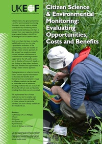 Cover of report entitled Citizen Science and Environmental Monitoring: Evaluating Opportunities, Costs and Benefits
