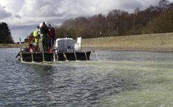 Remediation work at Clatto reservoir