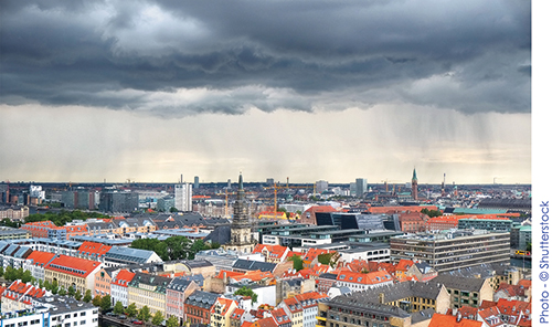 Cloudburst over Copenhagen
