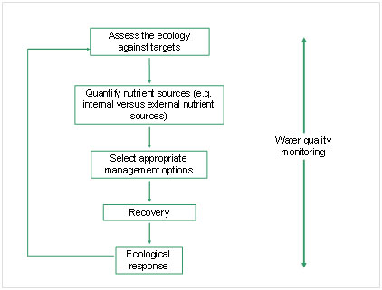 Conceptial model of a decision support system for lake restoration