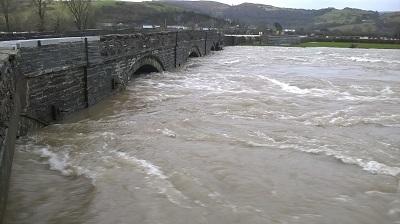Flooding at Dyfi, Wales