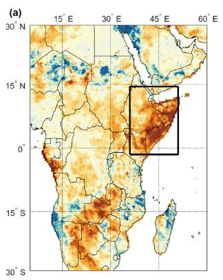 Mao: Rainfall in East Africa during 2016