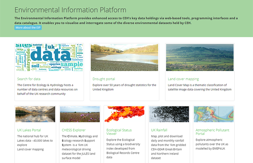 Environmental Information Platform screengrab