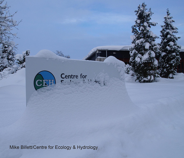 CEH's Edinburgh site under snow