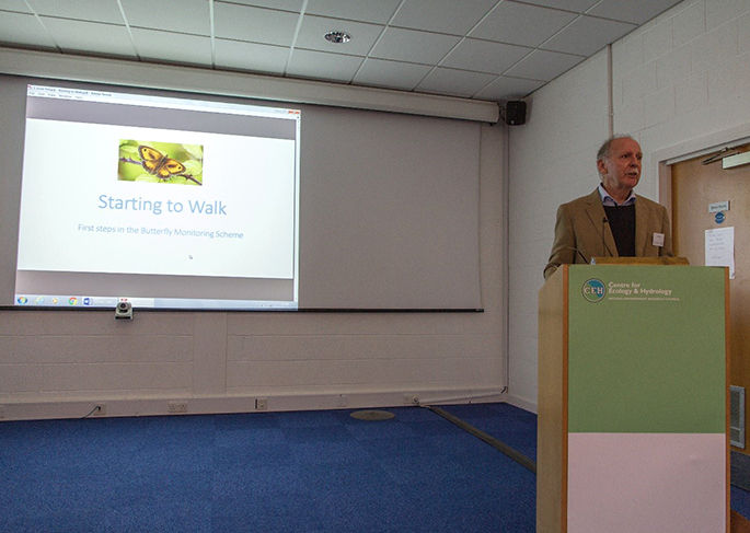 Ernie Pollard presenting at the UKBMS 40th anniversary symposium