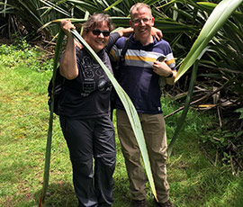 Grappling with non-native New Zealand Flax on St Helena