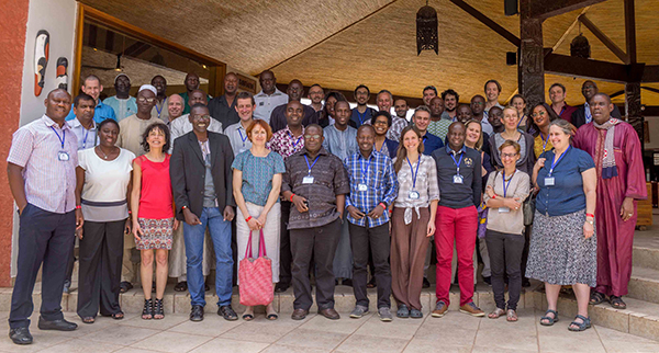 Attendees at the AMMA 2050 meeting in Senegal in February 2017