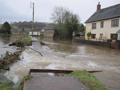 Flooding at Exbridge Dulverton