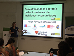 Helen Roy presenting to Chilean researchers