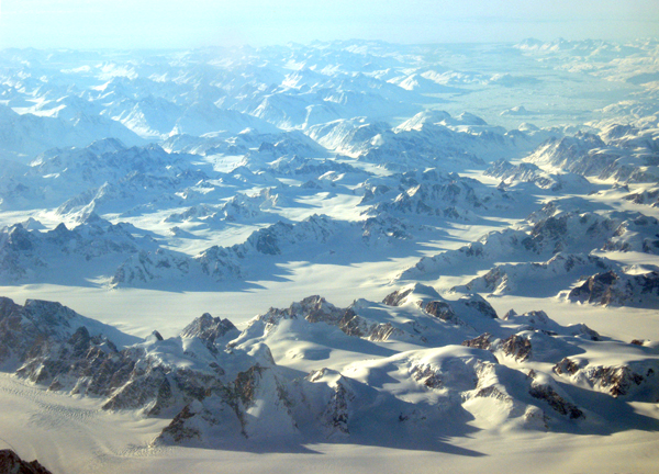 Mountains in eastern Greenland.  (Photo by Andy Sier)