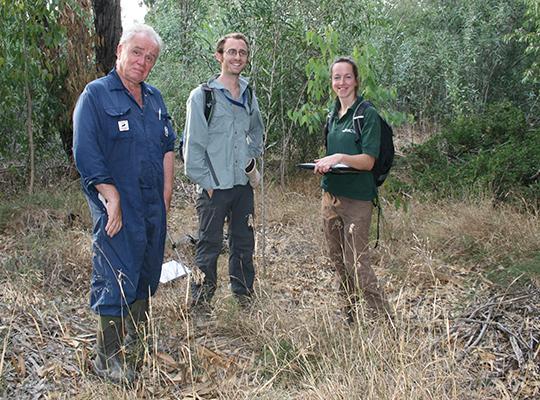 Owen, Oli and Jodey in Akrotiri forest