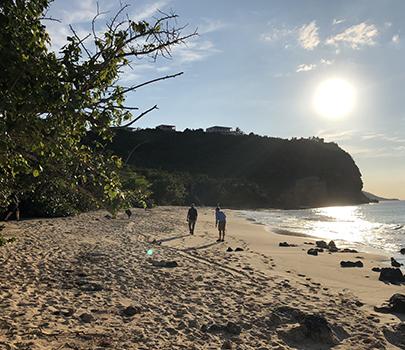 Caribbean island shore