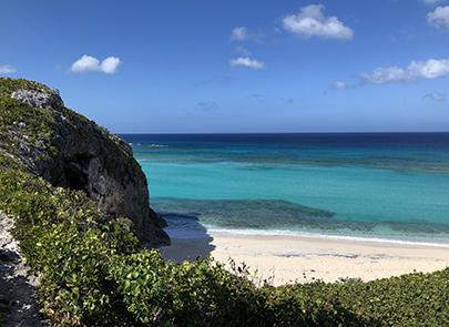 Caribbean island landscape