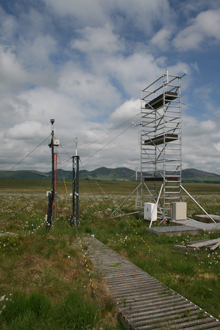 Monitoring equipment at Auchencorth Moss, photo: Barnaby Smith/CEH. View more peatland photos in our slideshow.