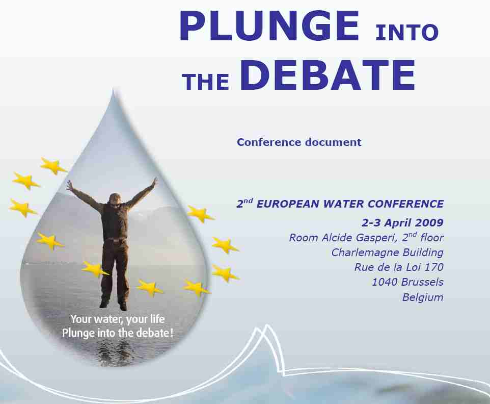 Poster for the Second European Water Conference