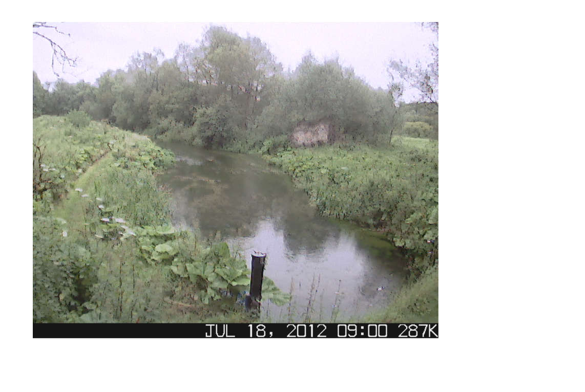 Murky conditions on the CEH River Lambourn Observatory webcam