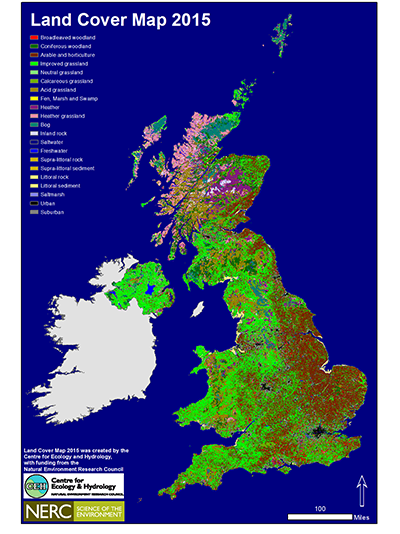 Land Cover Map 2015 with legend