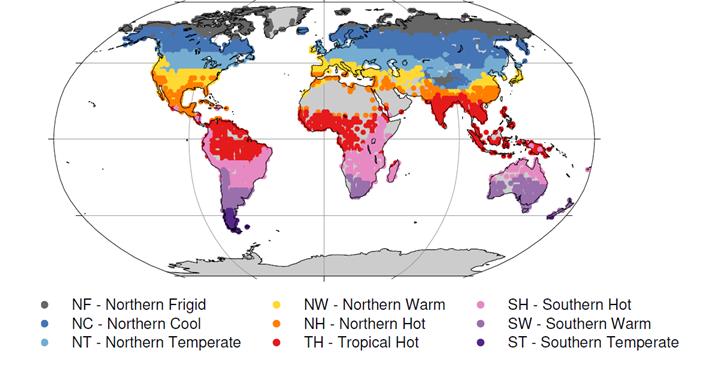Lake temperature thermal regions