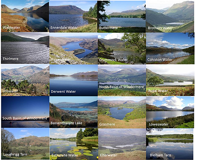 Lakes monitored during the Lakes Tour 2015