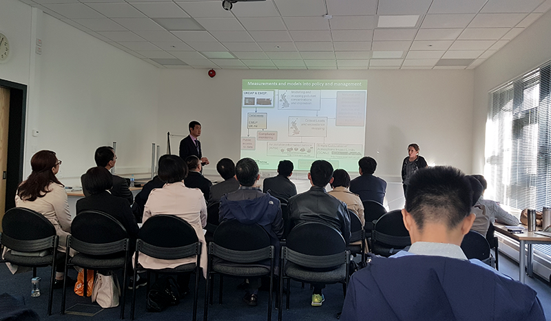 Chinese Meteorological Administration visitors at CEH