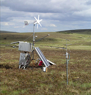 Micromet equipment in the Conwy catchment