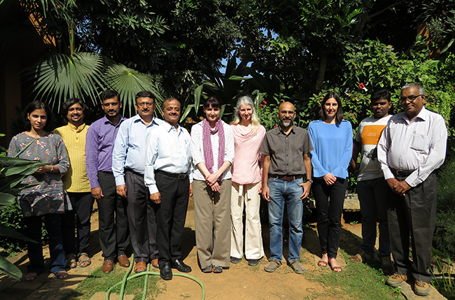 Members of the Monkey Fever project team