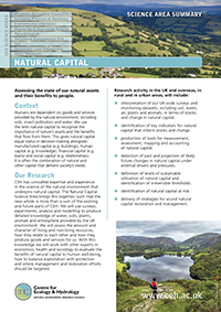 Natural Capital Science Area Summary front cover