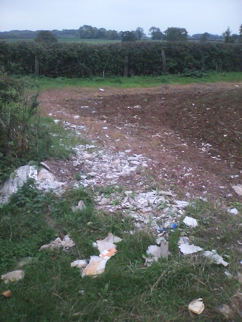 Plastic litter in an agricultural environment