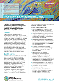 Pollution & Environmental Risk Science Area Summary front cover