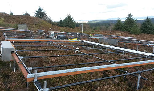 Part of CEH's climate change experiment at Clocaenog