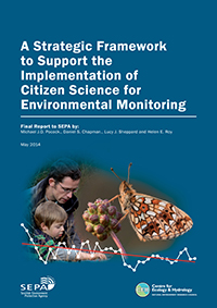 Front cover image of Choosing and Using Citizen Science full report