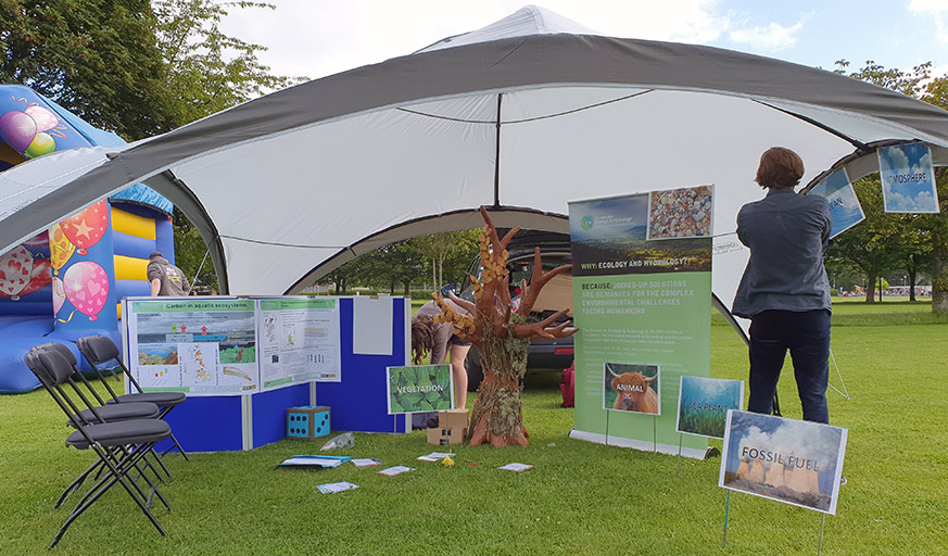 Preparing CEH stand at Edinburgh Climate Festival