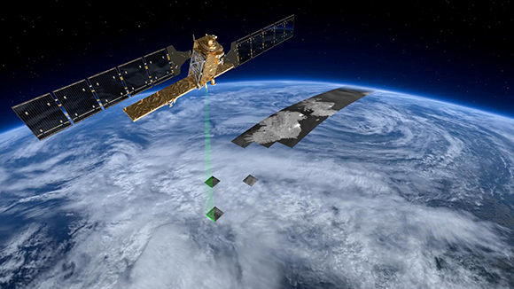 The Sentinel 1 radar satellite employs Synthetic Aperture Radar photo copyright European Space Agency