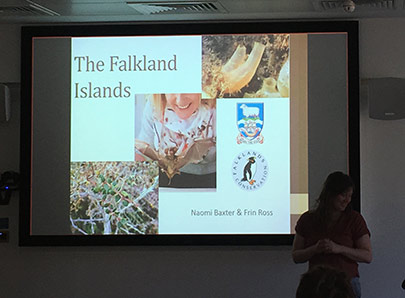 Slide presentation entitled The Falkland Islands